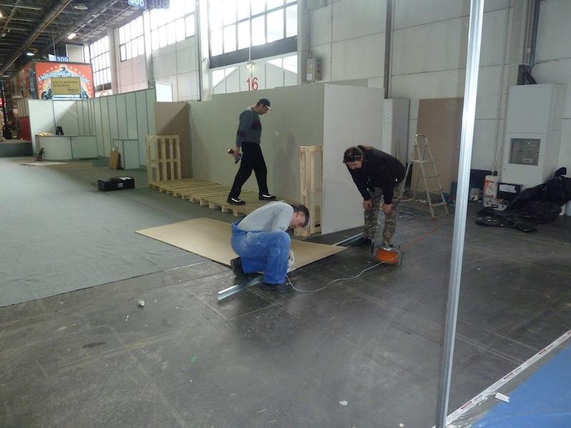 RubyRider stand: építés közben