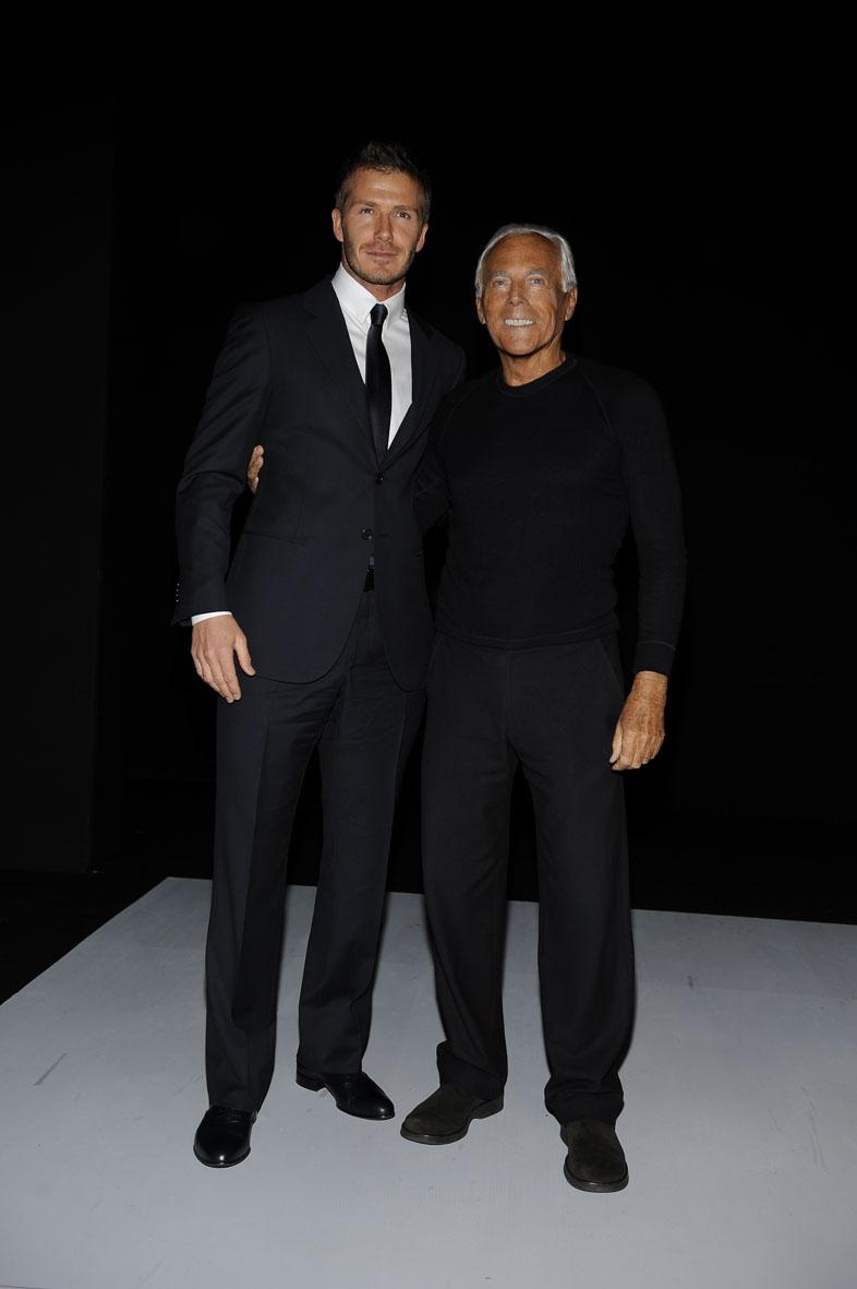 Giorgio Armani és David Beckham